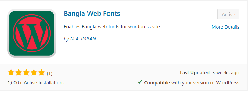 Convert WP Website into Beautiful Bangla Font