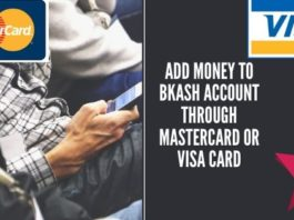 Add Money to bkash account through Mastercard or Visa Card