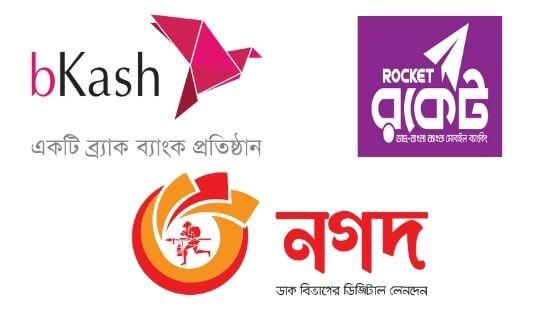 Bkash, Nagad, Rocket Charges with Comparison